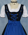 DIRNDL Trachten German DRESS Sz 6 Oktoberfest 3-Pc SHORT BLACK Party Waitress