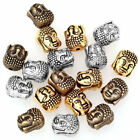 20PCS 10*8mm DIY retro perforated Buddha Head charm Spacer Beads wholesale