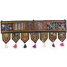 "LARGE SELECTION - 40"" BLACK WINDOW DOOR VALANCE TORAN WALL HANGING Indian Boho"