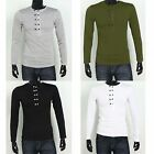 Mens Stylish Slim Fit Long Sleeve Crew Neck Casual T-shirt Top Jersey S-XL