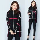 Womens Long Sleeve Knit Mini Dress Laides Oversized High Neck Jumper Sweater Top