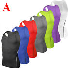 Mens Compression Base Layer Tank Top Sports Sleeveless T-Shirts Plain Shirt Vest