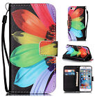 Stylish Painting Leather Flip Wallet Case Cover W Stand Card Holder For Phones