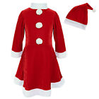New Christmas Santa Girl Tutu Dress Up Hat Outfit Party Birthday Wedding Costume
