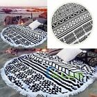 59in Large Printed Round Beach Swimming Towels Serviette Blanket With Tassel【US】