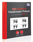 1 - 800 RAFFLE AND CLOAKROOM TICKETS - Book Colour Numbers Tombola Draw Lottery