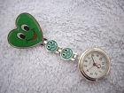 From 99p Nurse watch Butterfly Smiley face Heart Dimante diamond fob
