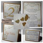 VINTAGE RUSTIC ROMANCE wedding :TABLE DECORATION Stationery;5 designs/60 colours