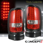 LED Tail lights Red / Clear Lens for 1994-2001 Dodge RAM 1500 2500 Truck Pickup