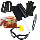 Outdoor Cooking Barbecue Tools BBQ Mat Brush Thermometer Meat Claw Glove