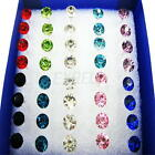 20Pair Lots Multicolor Clear Crystal Diamod Earrings Ear Studs Allergy Free Stud