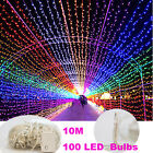 Multicolor Waterproof 10M 100 LED Bulbs Fairy Party String Lights Decoration