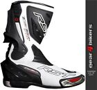 RST Tractech EVO White Sports Race Boot Motorcycle Boots CE APPROVED