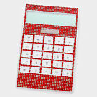 Solar Powered Oversized Crystal Rhinestone Bling Calculator Scho