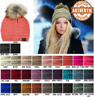 NEW 2017! Authentic CC C.C Pom Pom Beanie Cable Knit SUPER CUTE hat -Simply Chic