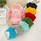 Cute Kids Girls Spring Fall Knitted Long Sleeve Coats Candy Color Cloud Sweaters