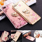 2017 Girl's New Fashion Shockproof Soft Case Finger Ring Stand Cover for iPhone