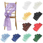 "1/5/10/20 PCS 6""x108"" Pintuck Taffeta Chair Sash Bow Cover for Wedding Decor NEW"