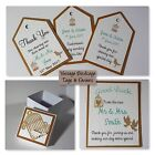 Handmade VINTAGE BIRDCAGE Wedding Stationery:TAGS & FAVOURS;5 designs:60 colours