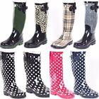 New Women's Glossy Rain Boots Garden Boots Wellies Brand New