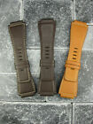 New 24mm Bell & Ross Calf Leather Strap Brown Watch Band BR-01 BR-03 X1 Gold