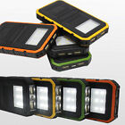 50000mAh 20000mAh Solar Power Bank 2USB 6LED Battery Charger For Mobile Phones