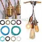 1/2/3/5/10M Vintage 2Core Twist Braided Fabric Cable Wire Electric Lighting Cord