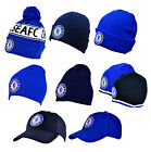 Official CHELSEA FC - HATS Beanie Knitted/Wooly/Caps/Ski/Bobble (Winter/Summer)