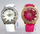 NEW GUESS Floral Glass Dial U0534L1 White / U0534L3 Hot Pink  Women Watches