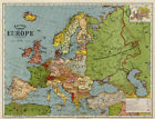 MAP OF EUROPE IN 1920 VINTAGE RETRO METAL TIN SIGN POSTER WALL PLAQUE