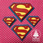 SUPERMAN LOGO Large Medium small SUPER HEROES edible icing cupcake cake toppers