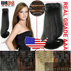 Classical 8 Piece 18 Clips Clip in on Hair Extensions Full Head TANGLE FREE sn21