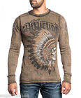 Affliction men Thermal Shirt - PEACE PIPE - Reversible L/S Lava Wash  A10500