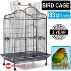 Bird Cage Parrot Budgie Canary Aviary Open Perch Roof Wire Extra Large 183cm New