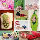 Crochet Photography Outfits Newborn Animal Cartoon Girls Boys Toddler EN24H