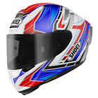 Shoei X-Spirit 3 ECE Helmet - Assail Blue/Red Race Motorcycle Track Road