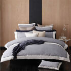 New Logan & Mason Essex Navy Super King Size Quilt / Doona Cover Set 3 or 6 Pce