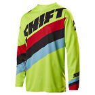 2017 Shift MX Youth WHIT3 Tarmac Jersey - Flo Yellow Boys Motocross Offroad Dirt