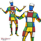 "FANCY DRESS COSTUME # ADULT 1970s 80s RUBIKS CUBE SECOND SKIN SUIT SIZE 38""-44"""