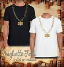 Maglia Mens Boys Girls Unisex T-Shirt Collana Dollaro Color ORO street money NEW