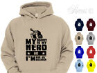 CHILDRENS MY DADDY IS A HERO ARMY DESIGN HOODIE BOYS HOODYS KIDS AGES 1 - 12YRS