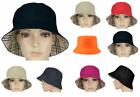 New Unisex Reversible Cotton Bucket Beach Field Haymarket Sun Hat 8 Colours