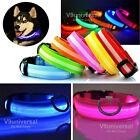 DOG LED LIGHT Collar Flashing Luminous Adjustable Safety Light Nylon Plain Tag