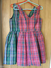 Jack Wills Aldham Red Green Ladies Dress Size 8 12 NEW (tags) RRP £79.50
