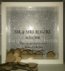 WEDDING HEART DROP GUEST BOOK FRAME HEART PERSONALISED SPARKLE
