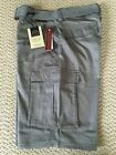 NWT Boy's LR Scoop Solid Gray Belted Cargo Pocket Shorts ALL SIZES 8-14