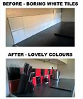 """Black & Red Stickers Transfers for  Kitchen Bathroom Tiles 4 x 4"""" 100mm 4 Inch"""