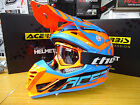 New 2017 Acerbis Profile 3.0 Helmet Goggles Combo Motocross M L XL Orange/Blue