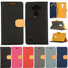 Magnetic Wallet Flip TPU + PU Leather Card Holder Case Cover for LG G3 G4 Stylus