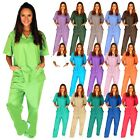 Kyпить Medical Scrub Unisex Men Women Natural Uniforms Hospital Nursing set Top & Pants на еВаy.соm